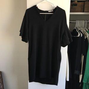 🌿Black Ruffle Sleeve Dress